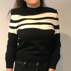 St. John Vintage Black and White Turtle Neck